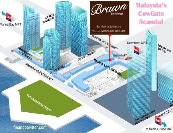 Marina Bay Suites Financial Center Link Mall Shahrizat Brawn Steakhouse