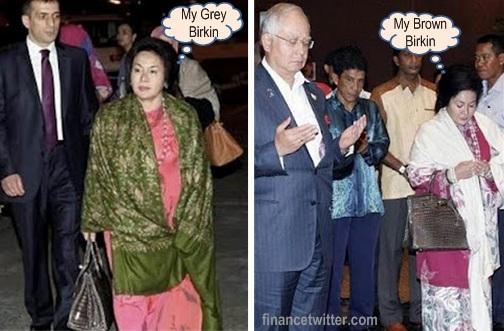 Rosmah Mansor Hermes Birkin Bags Grey Brown