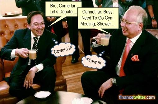 Anwar invite Najib Debate