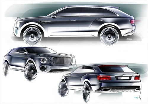 Geneva Motor Show 2012 Bentley EXP 9F Luxury SUV - 4