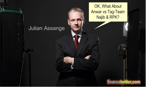 Julian Assange Debate Anwar Najib RPK