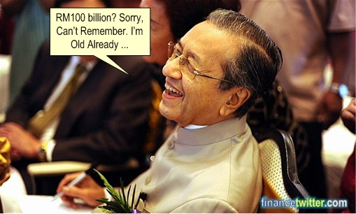 Apple $500 Billion - Mahathir RM100 Billion Losses