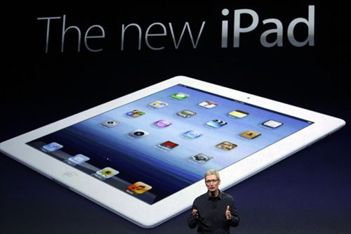New iPad 3 Tim Cook