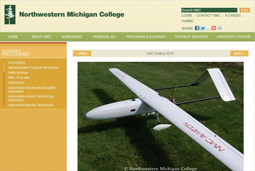 Northwestern Michigan College UAV Drone Studies