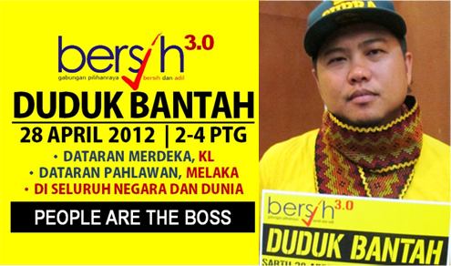 Bersih 3.0 28 Apr 2012