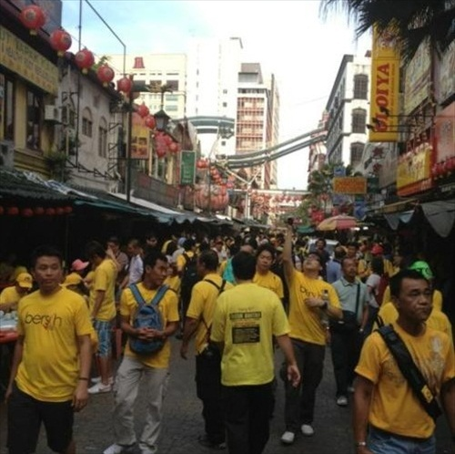 Bersih 3.0 Early Morning at Petaling Street