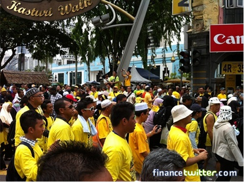Bersih 3.0 FinanceTwitter Crowd Reaching KotaRaya 2