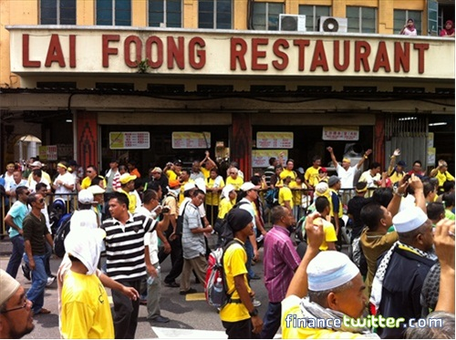 Bersih 3.0 FinanceTwitter Crowd Reaching KotaRaya Lai Foong 6