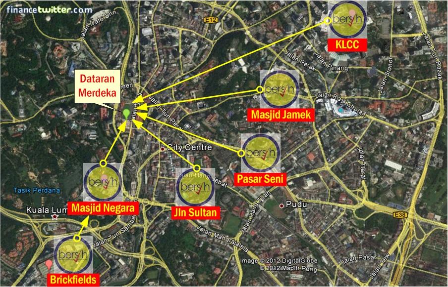 Bersih 3.0 Map