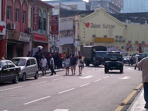 Bersih 3.0 Morning Jln Sultan Police