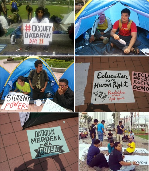 Dataran Merdeka Occupy Camping
