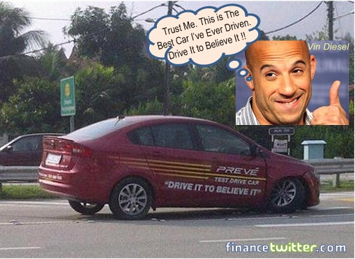 Proton Preve Broke Down Accident - Vin Diesel Drifting