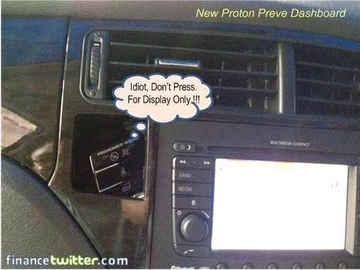 Proton Preve Dashboard Button Popup
