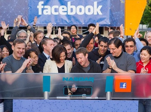 Facebook Opening Trading on Nasdaq