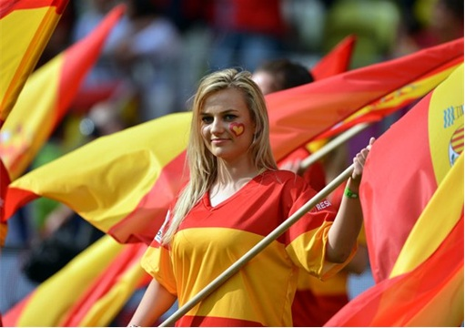 Euro 2012 Spainish Girls - 2