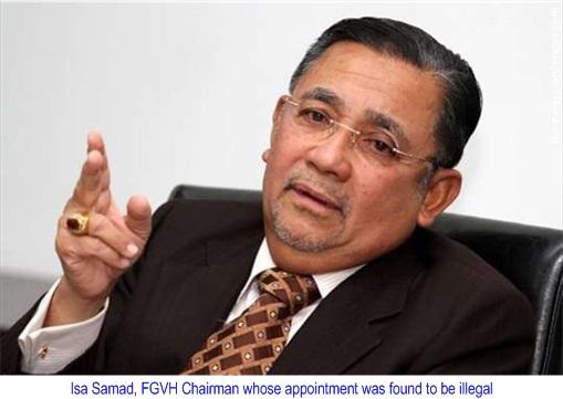 Felda Global Ventures Holdings FGVH - Isa Samad