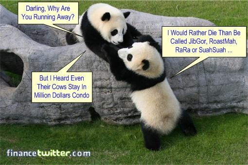 Malaysia Panda Name JibGor RoastMah Rara SuahSuah