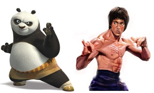 Panda Bruce Lee
