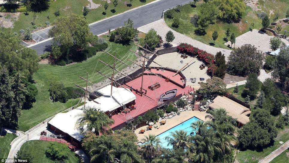Scientology Gold Base Ship-like Structure Swimming Pool