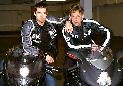 Tom Cruise and David Miscavige Motorbike