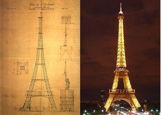 Eiffel Tower Draft Actual