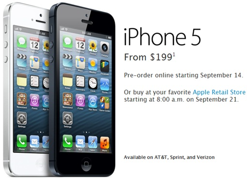 iPhone 5 - Pricing