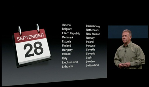 iPhone5 - Sept28 - countries