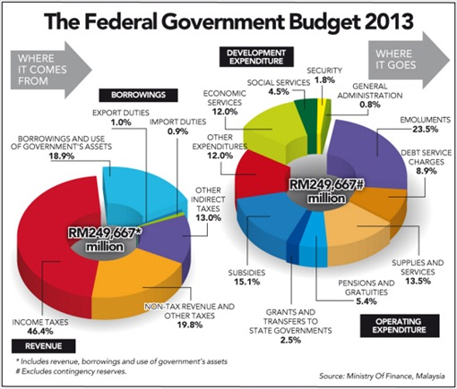 Budget 2013 - Where it Comes Where it Goes
