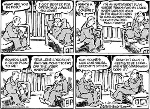 Genneva Gold - Ponzi Scheme Cartoon