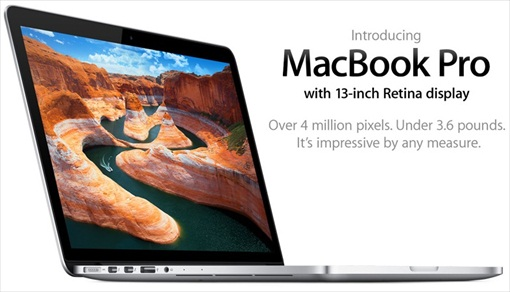 New 13 inch Retina Display MacBook Pro