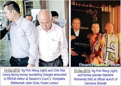 Genneva Gold Director Ng Poh Weng and Chin Wai Leong with Mahathir