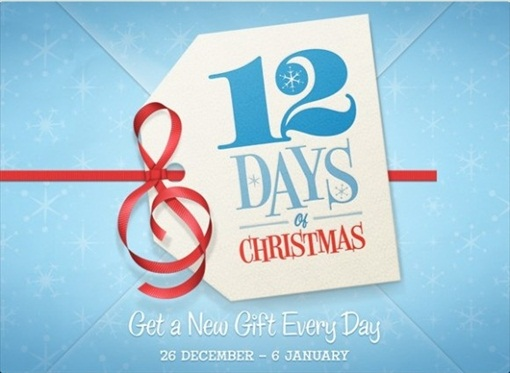 Apple 12 Days Christmas Free Gifts