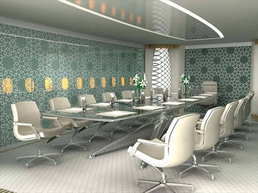 Prince Alwaleed Airbus A380 - Boardroom