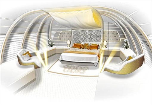 Prince Alwaleed Airbus A380 - Suites