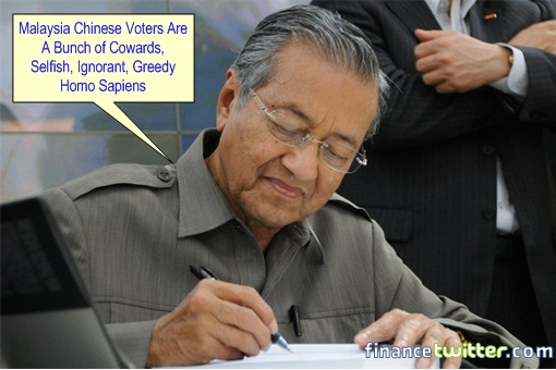 Mahathir - Chinese Voters