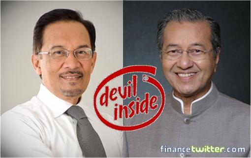 Anwar Ibrahim and Mahathir Mohamad - Devil Inside