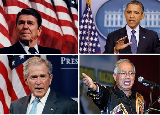 Reagan - Bush - Obama - Najib