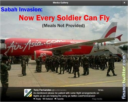 Sabah Invasion - AirAsia transporting army