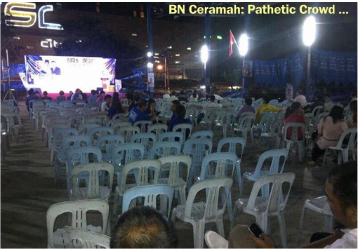 13 General Election - BN Ceramah Pathetic Crowd 1