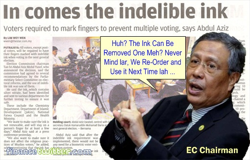 13 General Election - Indeliable Ink Removable