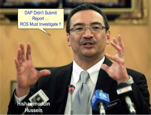 13 General Election - ROS vs DAP - Hishammuddin