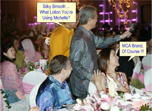 Abdullah Badawi touched Michelle Yeoh