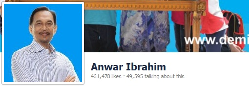 Anwar Ibrahim Facebook Likes