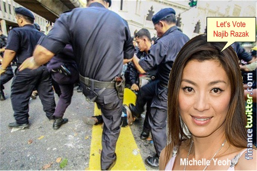 Bersih - Police Brutality - Michelle Yeoh