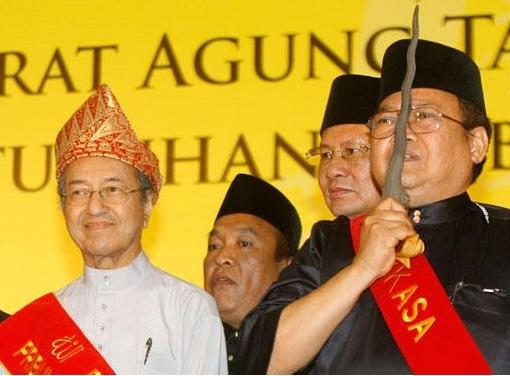 Ibrahim Ali with Mahathir Mohamad Racists