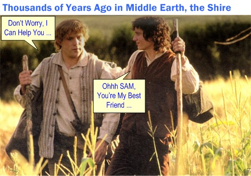 Lord of The Rings - Sam Helps Frodo