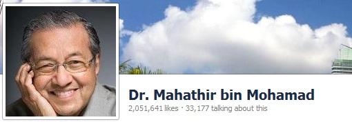 Mahathir Facebook Likes