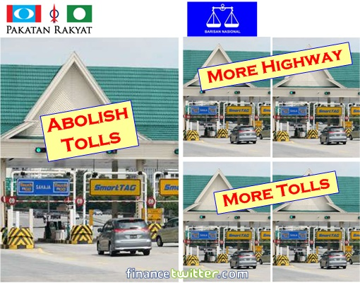 Manifesto - PR vs BN - Highway Tolls
