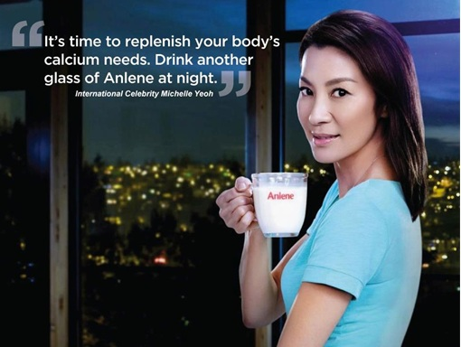 Michelle Yeoh - Anlene Advertisement