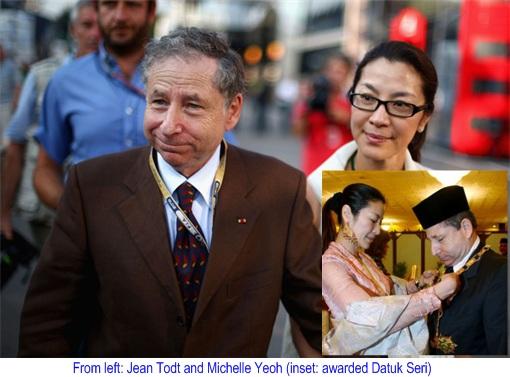 Michelle Yeoh and Jean Todt - Datuk Seri
